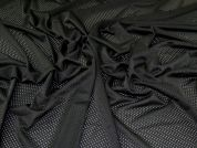 Cut Out Textured Knit Fabric  Black