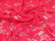 Embroidered Lace Fabric  Pink