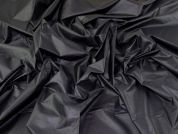 Coated Cotton Shirting Fabric  Charcoal Black
