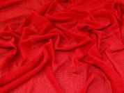 Textured Chiffon Fabric  Red
