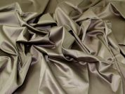 Sheened Cotton Lawn Fabric  Taupe