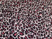 Animal Print Jersey Knit Fabric  Pink