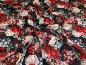 Floral Ponte Roma Knit Fabric  Multicoloured