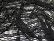 Stretch Lace Knit Fabric  Black