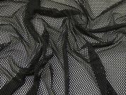 Chunky Fishnet Knit Fabric  Black
