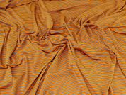 Viscose Jersey Knit Fabric  Orange