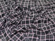 Check Crepe Fabric  Black