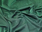 Lurex Ponte Roma Knit Fabric  Green