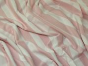 Stripe Jersey Knit Fabric  Pink
