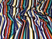 Stripe Scuba Knit Fabric  Multicoloured