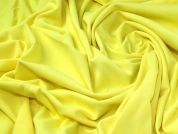 Ponte Roma Knit Fabric  Neon Yellow
