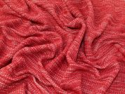Sweater Knit Fabric  Red