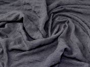 Crinkle Suiting Fabric  Dark Grey