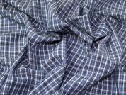 Crinkle Shirting Fabric  Blue