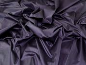 Stretch Cotton Sateen Fabric  Aubergine
