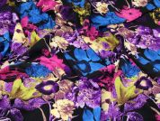 Stretch Crepe Fabric  Multicoloured