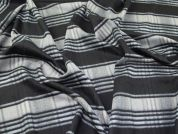 Wool Blend Coating Fabric  Black & Grey