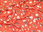 Christmas Textured Jersey Knit Fabric  Red