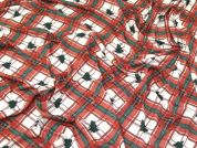 Christmas Jersey Knit Fabric  Multicoloured
