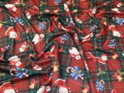 Christmas Scuba Knit Fabric  Multicoloured