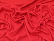 Plain Cotton Ribbed Stretch Jersey Knit Dress Fabric  Red
