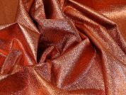 Textured Lame Fabric  Copper