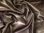 Metallic Faux Leather Fabric  Bronze
