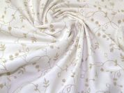 Embroidered Cord Fabric  Ivory & Gold