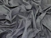 Flannel Backed Denim Fabric  Indigo
