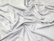 Lurex Jersey Knit Fabric  White & Silver