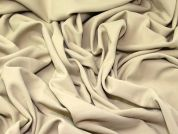 Poly Jersey Knit Fabric  Beige