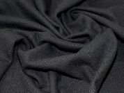 Wool Blend Coating Fabric  Black