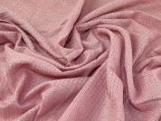 Lurex Wool Blend Suiting Fabric  Pink