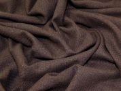 Wool Blend Coating Fabric  Dark Brown
