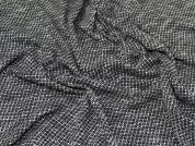 Wool Blend Jersey Knit Fabric  Black & White