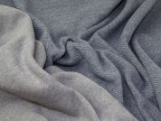 Reversible Heavy Wool Knit Fabric  Blue
