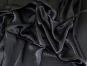 Rayon Satin Fabric  Black