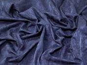 Stretch Jacquard Fabric  Navy Blue