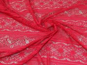 Lace Fabric  Cerise Pink
