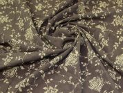 Crinkle Shirting Fabric  Brown