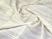 Polyester Voile Fabric  Cream
