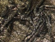 Printed Textured Fur Fabric  Bronze