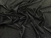 Lurex Textured Knit Fabric  Black & Silver