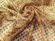 Cutspot Chiffon Fabric  Brown