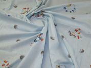 Woven Cotton Fabric  Baby Blue