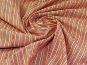 Linen Viscose Fabric  Orange