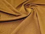 Textured Knit Fabric  Tan Brown