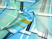 Polyester Crepe Fabric  Turquoise