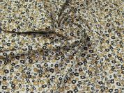 Cotton Lawn Fabric  Brown & Grey