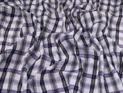 Crinkle Shirting Fabric  Purple